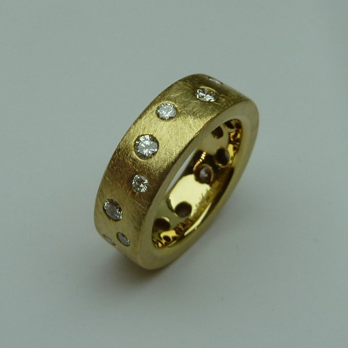 Ring 750 GG, Brill. 1,44ct,TW lupenrein